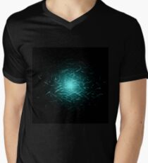 Glowing High Energy Particles Flowing Inside A Sphere Men's V-Neck T-Shirt