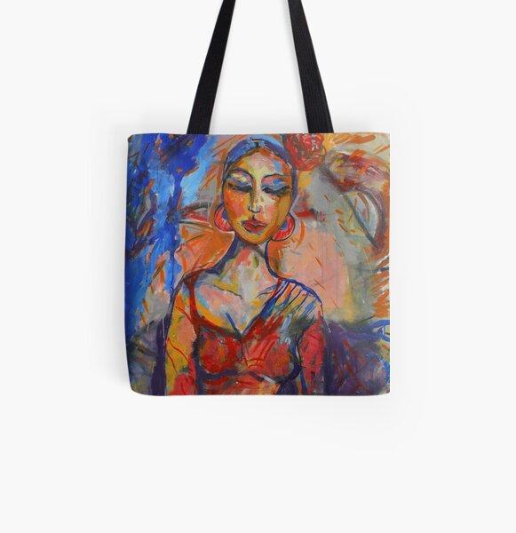 Woman on Colors (Feria de Abril) All Over Print Tote Bag