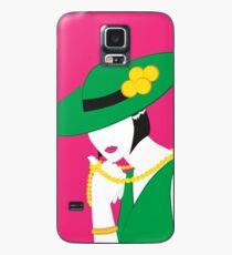 Madame - Grün und Pink Hülle & Klebefolie für Samsung Galaxy