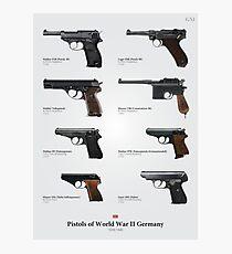 Pistols of World War II Germany Photographic Print
