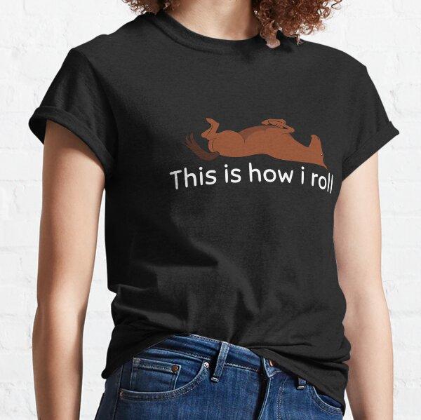 Chemise d'équitation de dressage drôle T-shirt classique