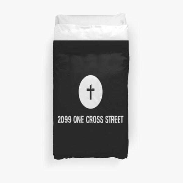 2099 One Cross St Duvet Cover