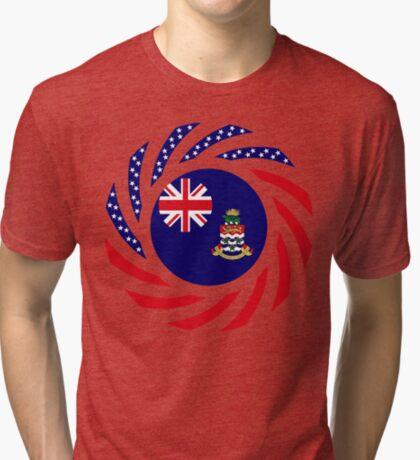 Caymanian American Multinational Patriot Flag Series Tri-blend T-Shirt