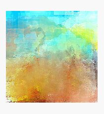 Beautiful Decorative Abstract in Blues and Earth Tones Photographic Print