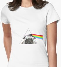 Pink Floyd Pug Women's Fitted T-Shirt
