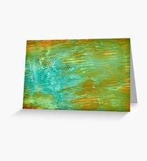 abstract landscape oil painting Greeting Card