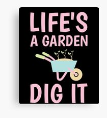 Funny Gardening TShirt & Gift Items for Women, Girls Canvas Print