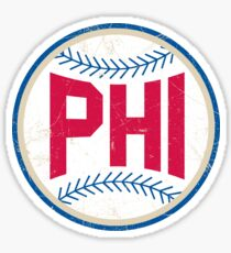 PHI retro Baseball 1 Sticker