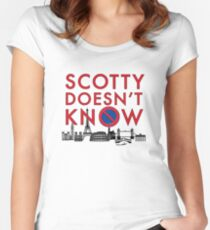 SCOTTY DOESN'T KNOW Women's Fitted Scoop T-Shirt