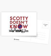 SCOTTY DOESN'T KNOW Postcards