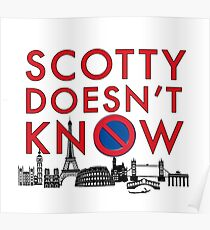 SCOTTY DOESN'T KNOW Poster