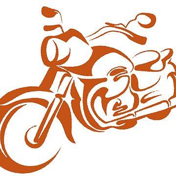 Orange Swish Motorcycle by m8qlaff