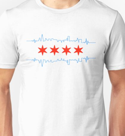 Chicago Heart Beat Unisex T-Shirt