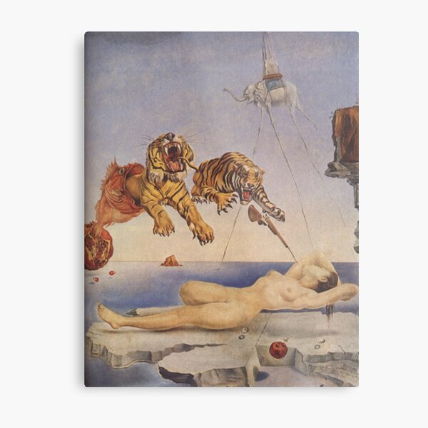 Salvador Dali, Dream Caused by the Flight of a Bee around a Pomegranate a Second before Awakening. Metal Print