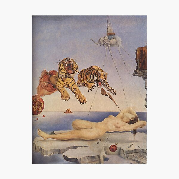 Salvador Dali, Dream Caused by the Flight of a Bee around a Pomegranate a Second before Awakening. Photographic Print