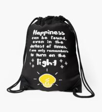 Happiness can be found Drawstring Bag