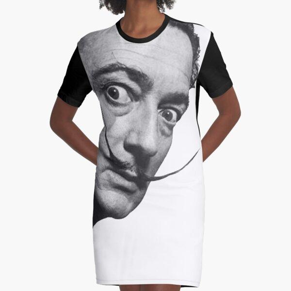 Salvador Dali. Portrait. Graphic T-Shirt Dress
