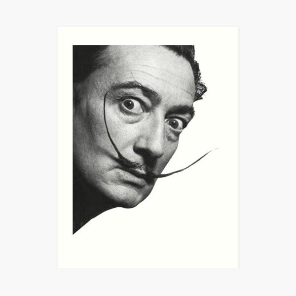 Salvador Dali. Portrait. Art Print