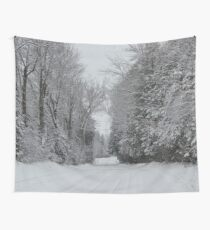 Rural Winter Roadway Wall Tapestry