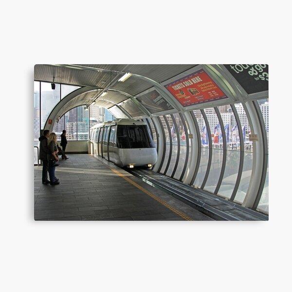 Sydney Monorail station, Darling Harbour (interior) Metal Print