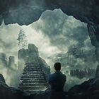 Flucht aus der dunklen Höhle von 1STunningART