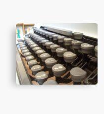 Typewriter Canvas Print
