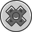 D Pad Icon Sticker By Vladmartin Redbubble