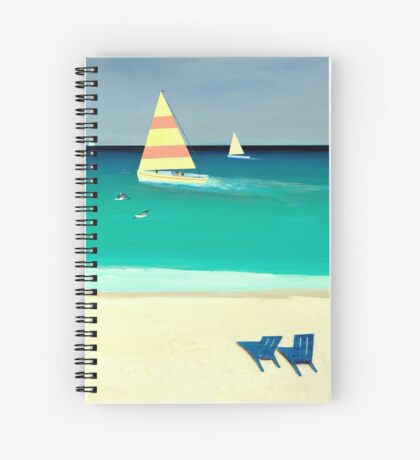 COASTAL CALM, Acrylic Painting, for prints and products Spiral Notebook