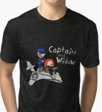 Captain and Widow Tri-blend T-Shirt
