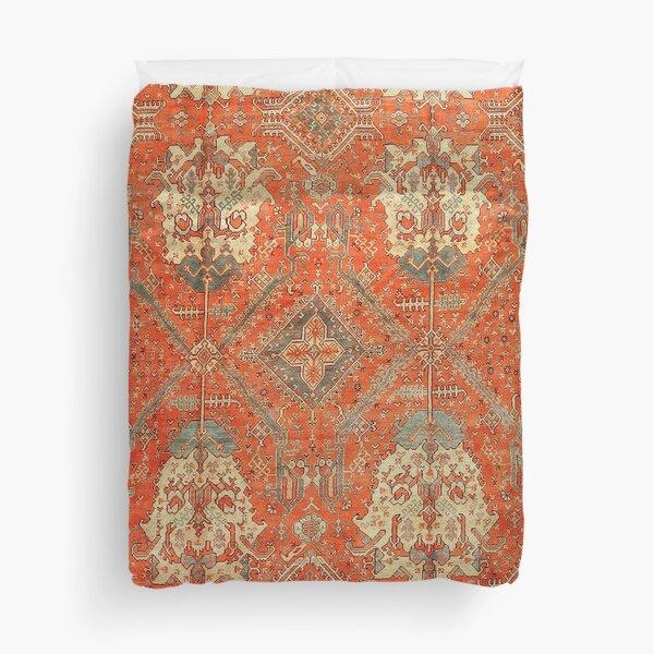 Antique Turkish Oushak Rug Print Duvet Cover