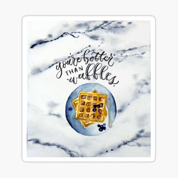 Waffle Love Sticker