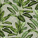 Palms on Square Shingles Pattern - Grey White Gold by Nicole Demereckis