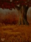 """... DOWN BY THE BIG OAK TREE, AT SUNDOWN!,"" Pastel Painting, for prints and products by Bob Hall©"
