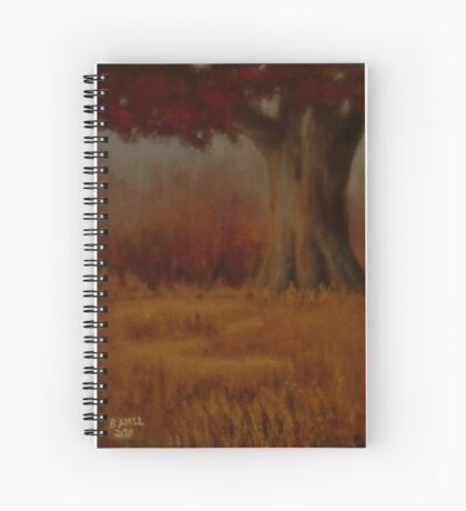 """... DOWN BY THE BIG OAK TREE, AT SUNDOWN!,"" Pastel Painting, for prints and products Spiral Notebook"