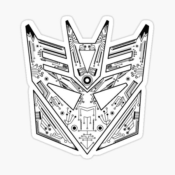 Decepticon Tech BW Sticker
