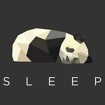 Geometric Panda Bear by meichi