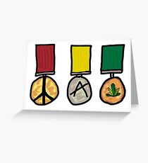 Peace Medals Greeting Card