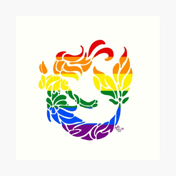 Swim to the Rainbow Art Print