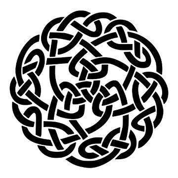 Celtic knot, Black by TOMSREDBUBBLE