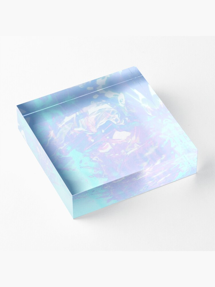 Alternate view of Pretty Water ~ Aesthetic Experiment Acrylic Block