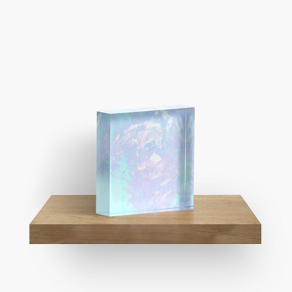 Pretty Water ~ Aesthetic Experiment Acrylic Block