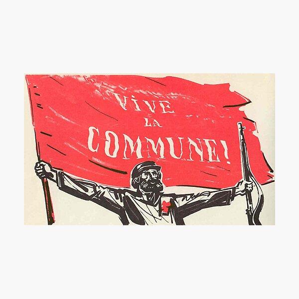 Cartel de la Comuna de París - Vive Le Commune Lámina fotográfica