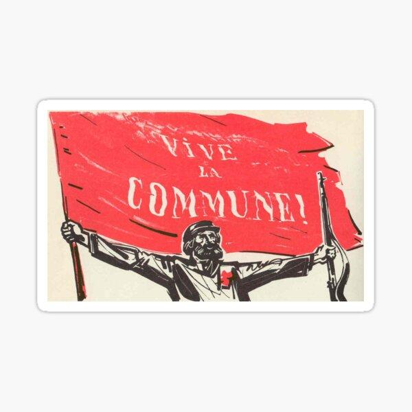 Cartel de la Comuna de París - Vive Le Commune Pegatina