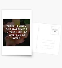 Rose Quotation (George Sand)  Postcards