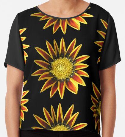 tolle Blume in den Farben rot und gelb  Chiffontop für Frauen