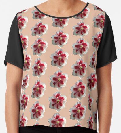 tolles Blütendesign in rot / weiß Chiffontop für Frauen