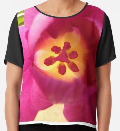ein pinker Blütentraum, Tulpe, Tulpen Chiffontop für Frauen
