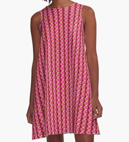 ein pinker Blütentraum, Tulpe, Tulpen A-Linien Kleid