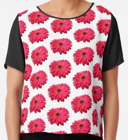 ein farbenfroher Blütentraum in rot Chiffontop für Frauen