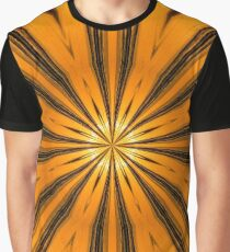 Golden Morning Kaleidoscope Graphic T-Shirt